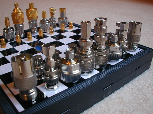 RF connector chess set