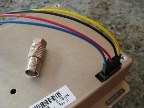 tapr time nuts thunderbolt group buy connect your own wires to the included crimp pins in this example following pc power color conventions yellow is 12v black is common red is 5v